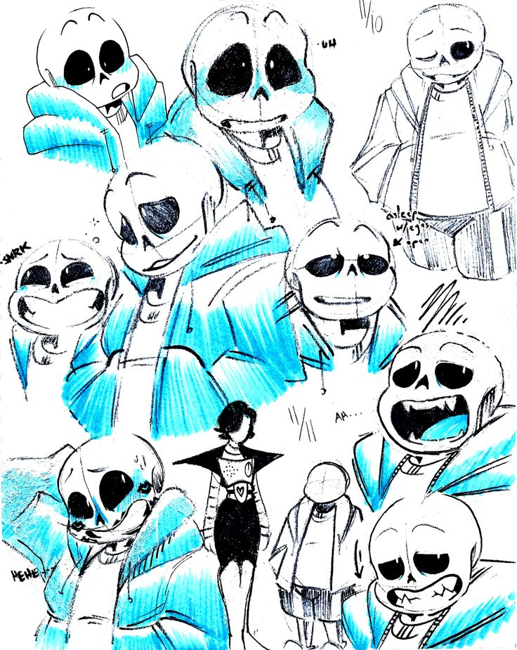 """thaidraws: """" a lot of ppl said..they liked the way i drew sans SO…I D..REW MORE """""""