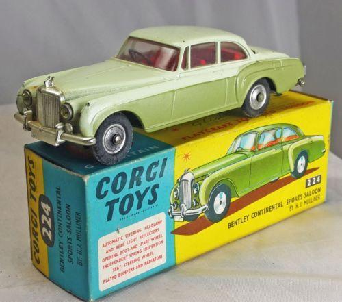 Corgi-No-224-Bentley-Continental-Sports-Saloon-rare-Mint-w