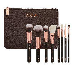 Zestaw 8 pędzli do makijażu Rose Golden Luxury Brush Set, Zoeva