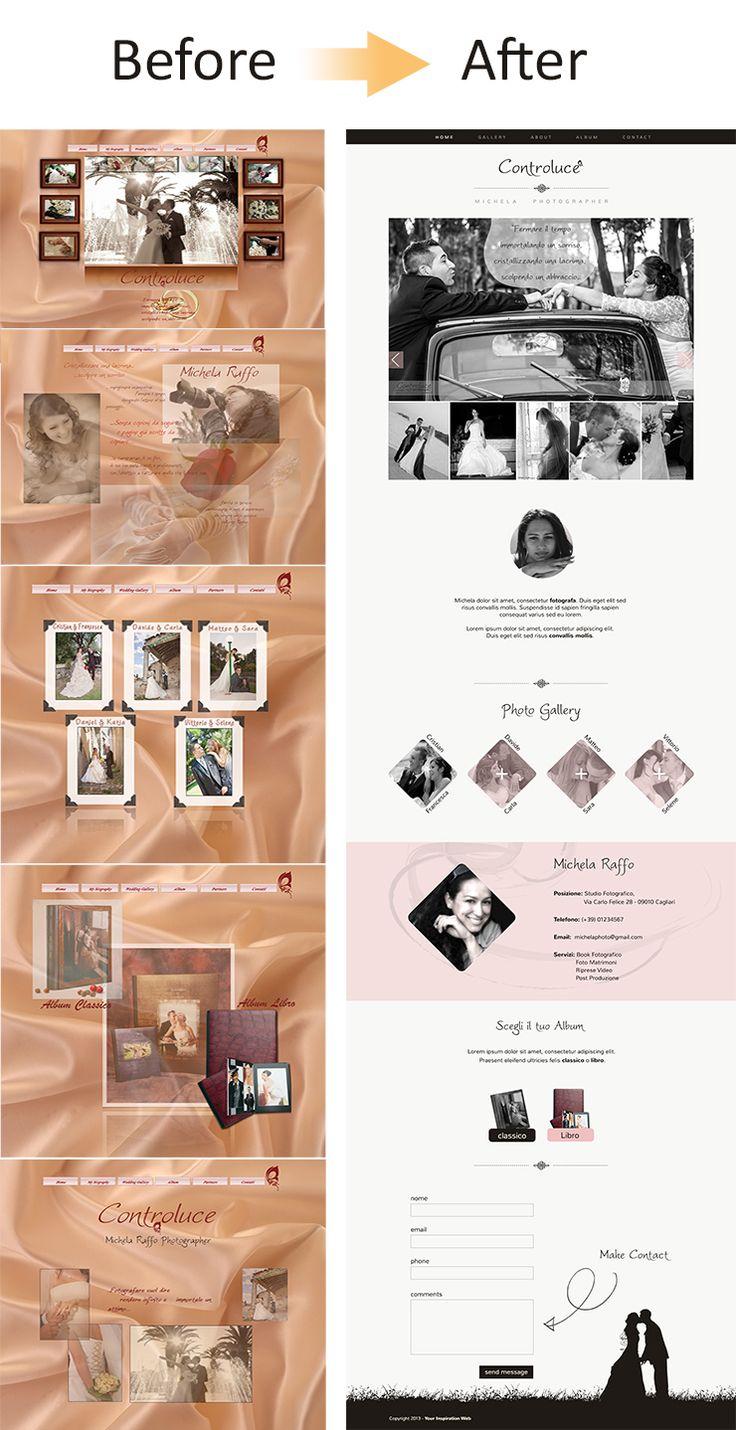 #restyling del #portfolio di un #fotografo: #before&#after