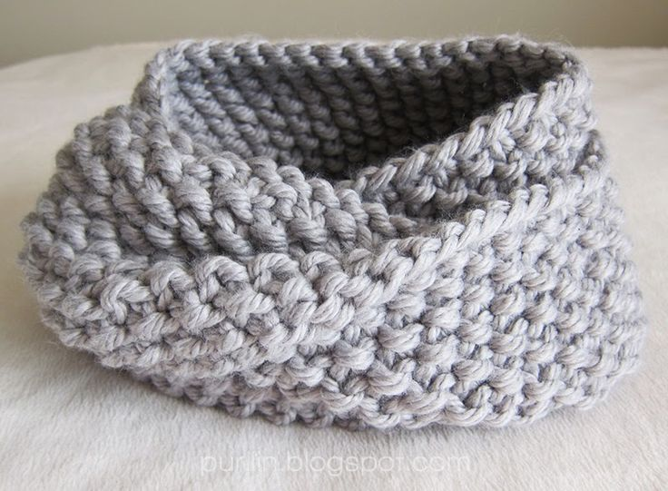 Knitted Infinity Scarf Pattern Pinterest : Purllin: December Seed Stitch Infinity Circle Scarf [ free ...