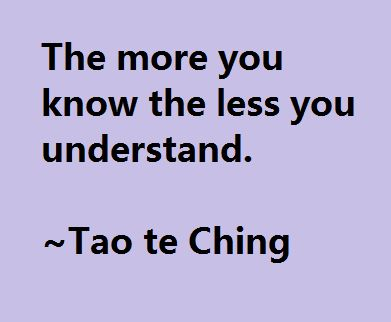 Tao te Ching (what I learned in grad school)