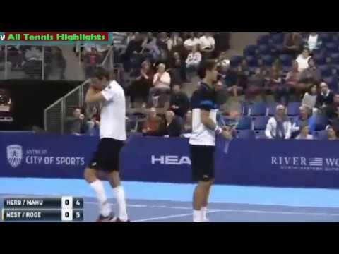 Pierre Hugues Herbert/Nicolas Mahut vs Daniel Nestor/Edouard Roger Vasse...