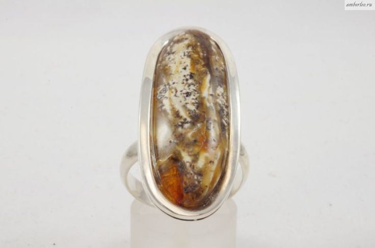 Янтарное кольцо КО094