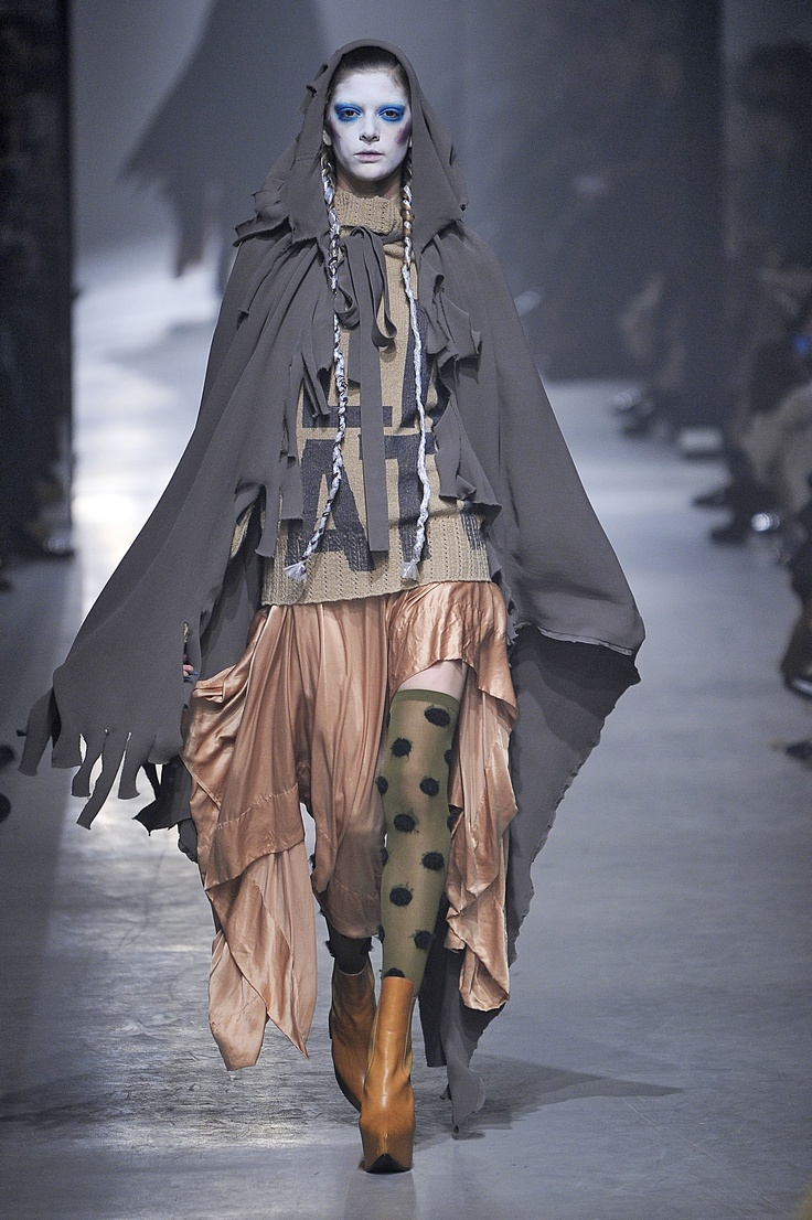 Vivienne Westwood I'd be scared if I saw something like this coming at me. How unattractive.