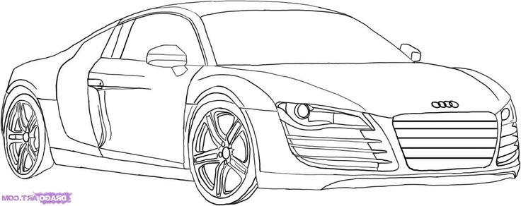 Drawings of cars audi r8 gt how to draw an audi step step for Audi r8 coloring pages