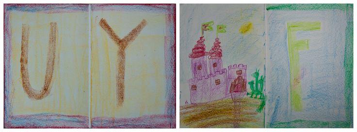 Pedagogika waldorfska a nauka liter. Prace dzieci z klasy 1. Waldorf ~ 1st grade ~ Letters ~ chalkboard drawings Szkoła Waldorfska im Korczaka w Krakowie Waldorf school in Cracow, Poland