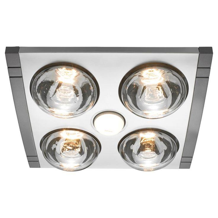 Heller 4 x 275W LED Silver Mason 3in1 Bathroom Heater $120