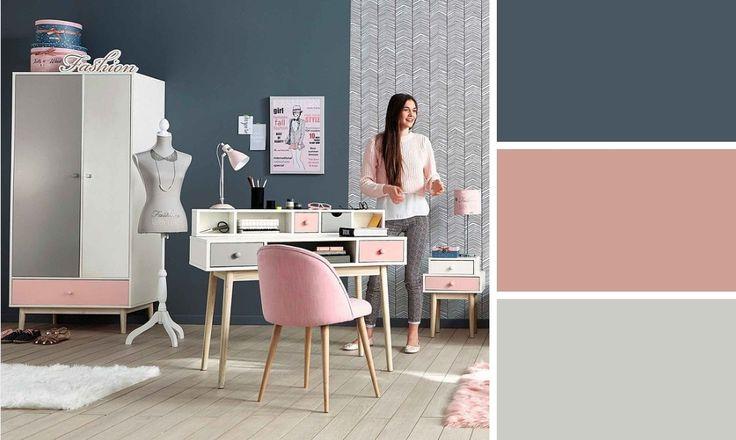 Chambre ado romantique couleurs