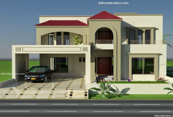 Front Elevation Of Houses In London : Kanal plot house design europen style in bahria town