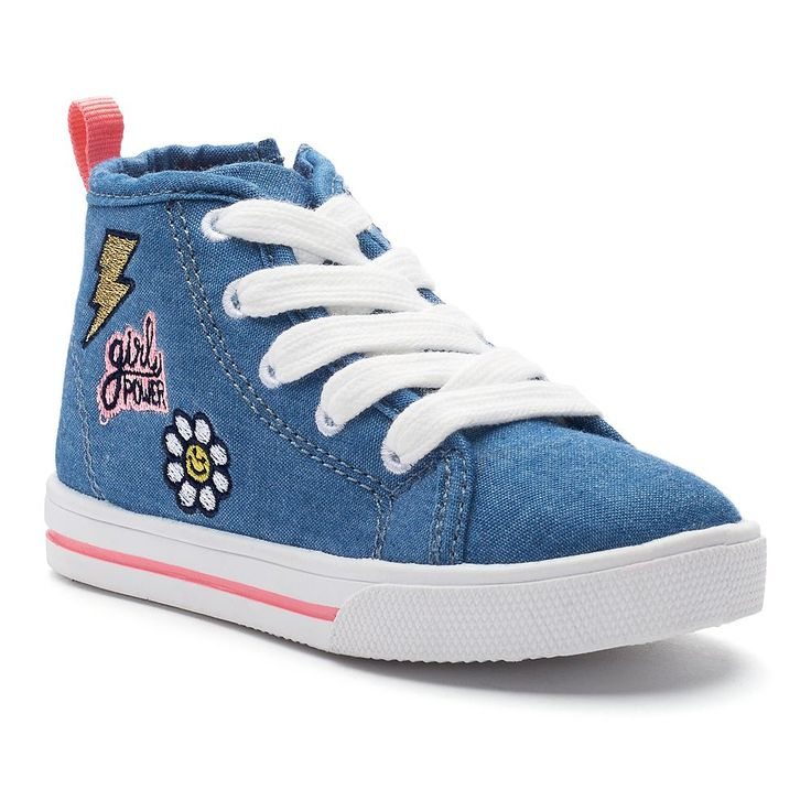 Carter's Ginger 3 Toddler Girls' High Top Sneakers, Size: 10 T, Blue