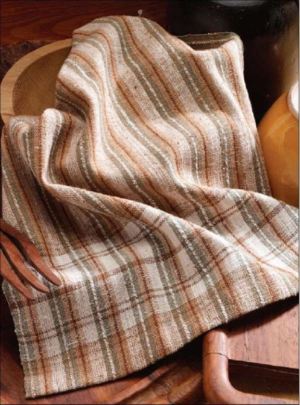 Naturally Colored Towel Kit. We include all the variety of brown, green and natural yarn colors you'll need to warp and weave a lovely striped kitchen towels using our 10/2 Packucho Organic Light and our 10/2 Packucho Organic Dark 100% organic, naturally colored yarns.