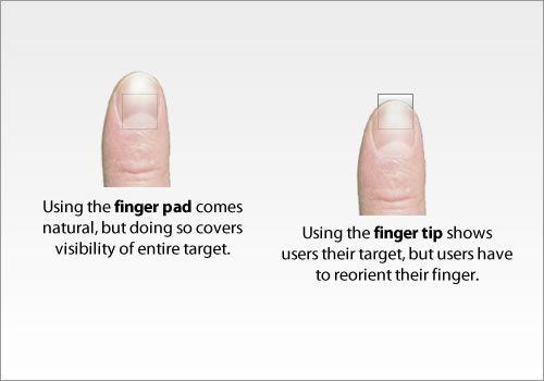 Finger tips and finger pads
