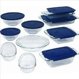 Glass - support an economy not supporting the plastic industry as much! Pyrex Bakeware
