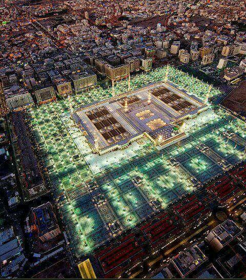A breathtaking view of the Prophet's Masjid. ﷺ