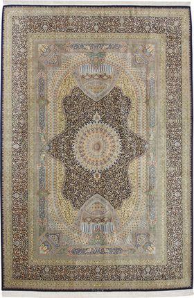 Qom silk carpet Jamshidi