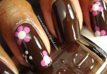 30 Fotos de uñas decoradas con color marrón – brown nails
