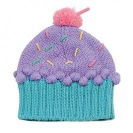 Cupcake Knitted Beanie Lilac with sprinkles $25.95