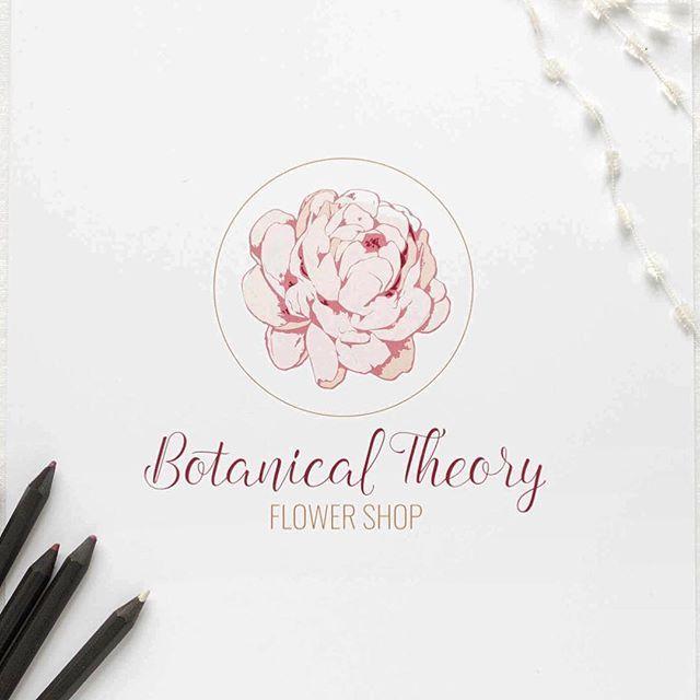 Botanical Theory premade logo by 21B Creative