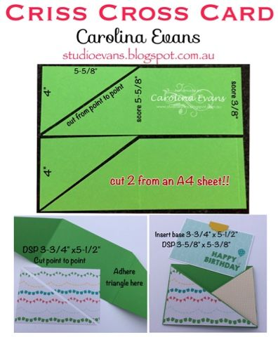 482 best card tutorials and templates images on pinterest cards carolina evans stampin up demonstrator melbourne australia birthday criss cross cards pronofoot35fo Choice Image
