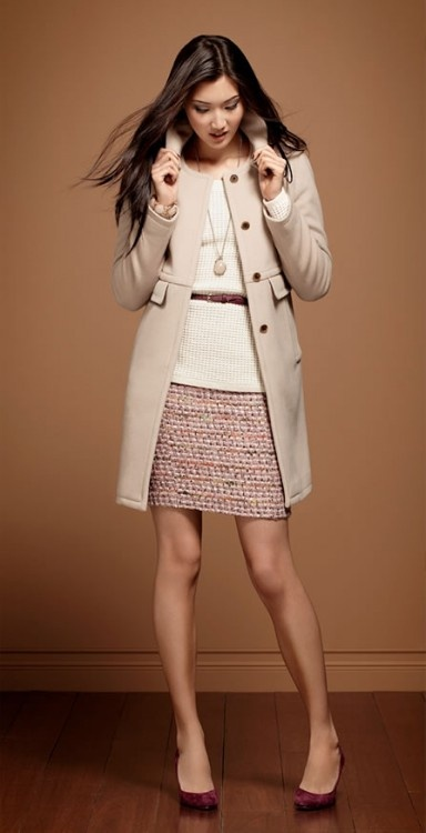 #AnnTaylor #coat #sweater #skirt #fall #winter