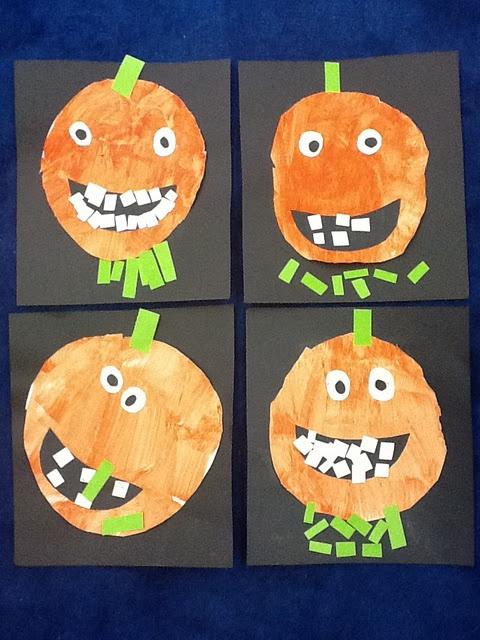 artisan des arts junior kindergarten adorable grinning jack o lantern art - Halloween Art For Kindergarten