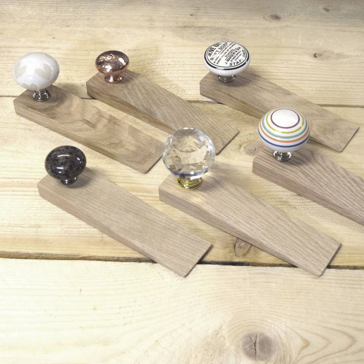 Solid Oak Door Stops