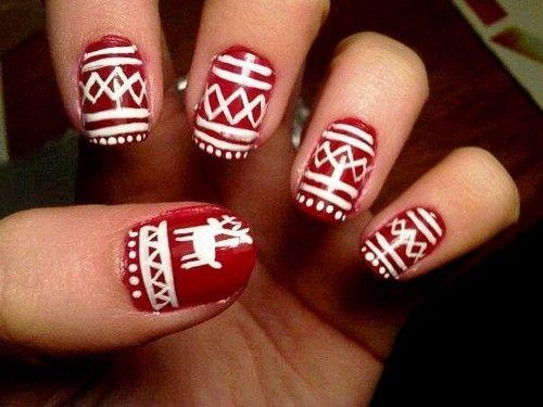 nails: Hair Beautiful, Holiday Nails, Winter Style, Christmas Nails, Nails Ideas, Christmas Sweaters, Sweaters Nails, Nails Polish, Winter Nails