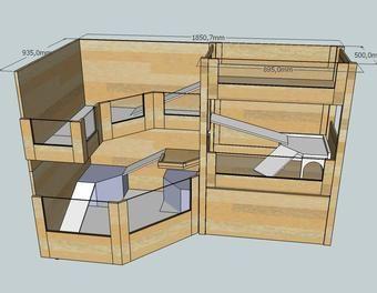 Neuschweinstein - Ein Heim für die Meerschweinchen meiner Tochter Holzbearbeitung,Holz