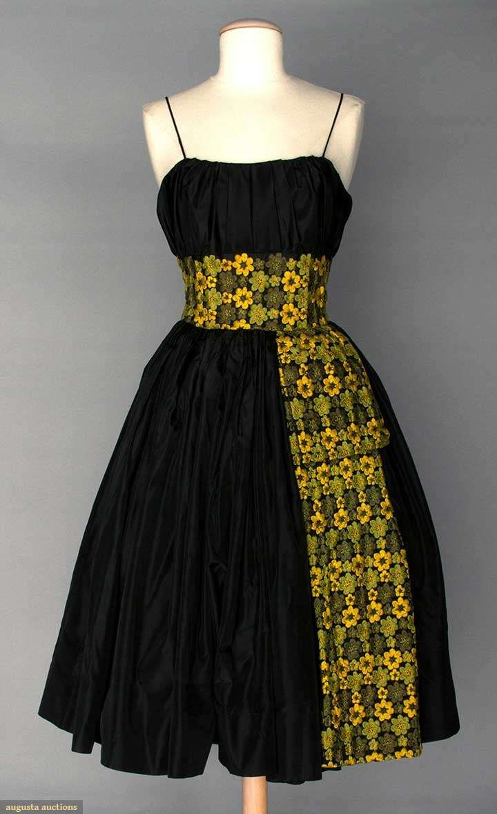 Black Party Dress, Mid 1950s, Augusta Auctions, April 9, 2014 - NYC