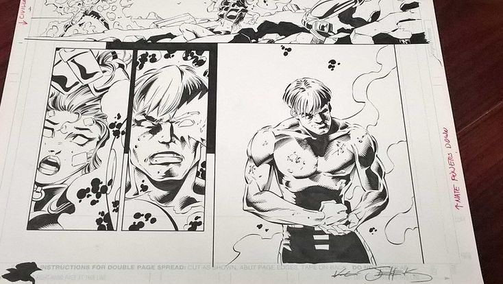 Original XMAN Comic book art, for sale on our site. Nate Grey, the other version of CABLE.