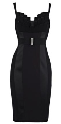 Black Fitted Pencil Dress