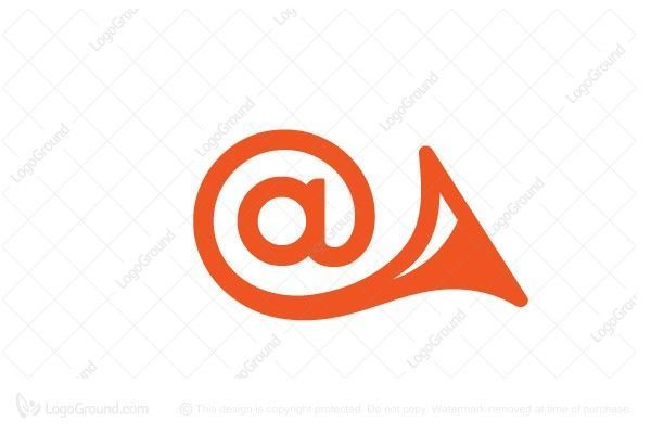Logo for sale: At Horn Email Marketing Logo. Unique symbol combination of @ sign and horn. The symbol itself will looks nice as social media avatar and website or mobile icon. @ email marketing promotion promoting product business brand design graphic unique recognized professional software apps app applications application logo logos mail twitter viral advertise advertising promotional buy purchase sell on sale sold marketer #mobilemarketinglogo