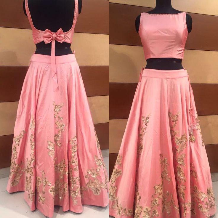 Beautiful silk lehenga with zardozi work made by sv elegance .... For more info call 6478990487 or visit www.svelegance.com