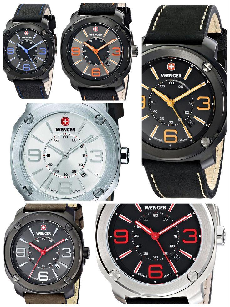 The modern classic: WENGER Escort. A great variety of sporty timepieces. Choose the one that suits you. #WENGER   #KhaValeri  www.pinterest.com/KhaValeri/    kha_amz_WENescort1507_v11