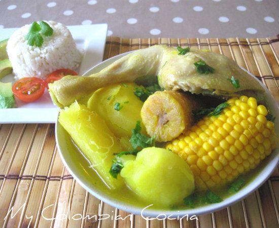 Sancocho de Pollo Colombia, cocina, receta, recipe, colombian, comida.