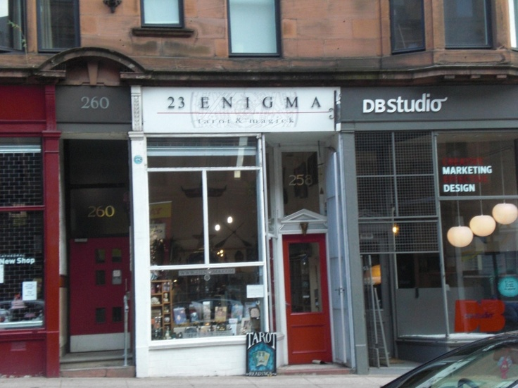 23 Enigma , situated in the old part of the city - Glasgow's coolest occult shop!