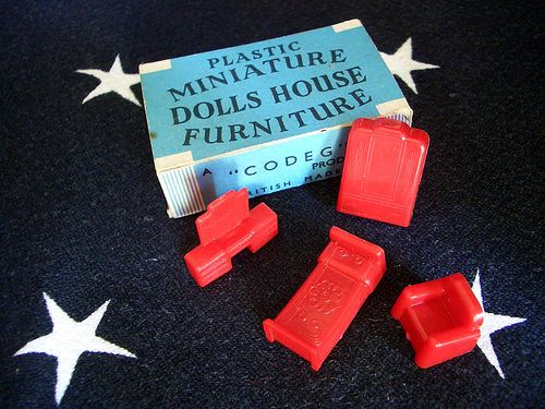 plastic dolls house furniture - Google Search