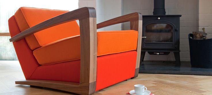 orange retro style chair
