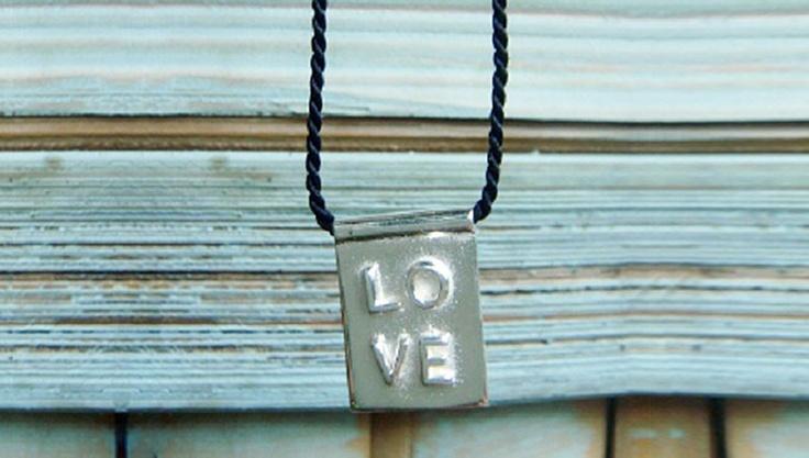 All you need is LOVE !............. all you need is love, love, love is all you need! 9.25 silver & silk blessing necklace.  SweeeeeeeeeeeT