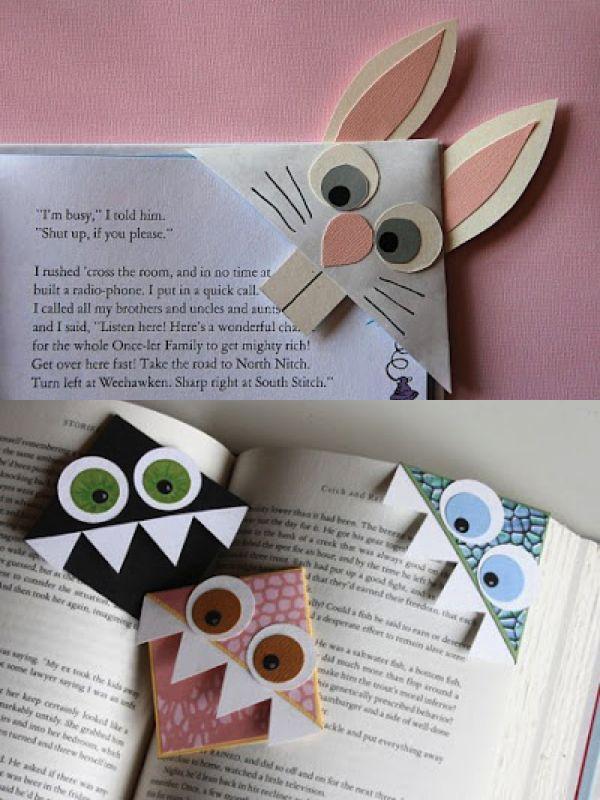 homemade bookmark corners                                                                                                                                                     More