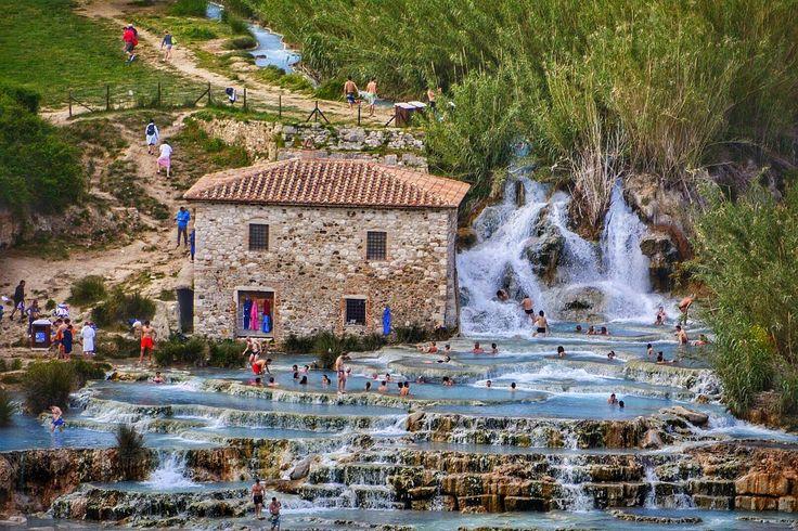 **Cascate del Mulino (free thermal bath) - Saturnia, Italy