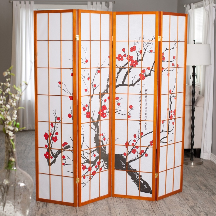 Best Cherry Blossom Decor Images On Pinterest Cherry Blossom - Cherry blossom room divider screen
