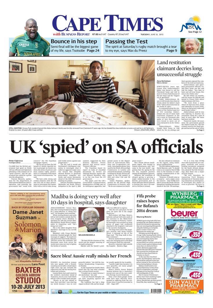 UK spied on SA officials