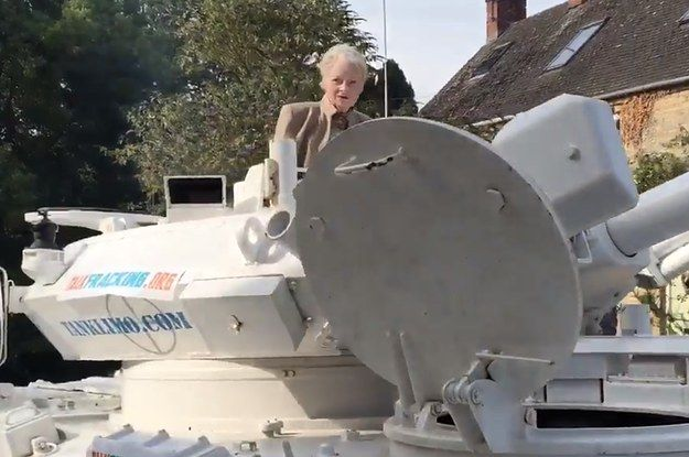 Vivienne Westwood Has Driven To David Cameron's House In A Bloody Great Big Tank - BuzzFeed News