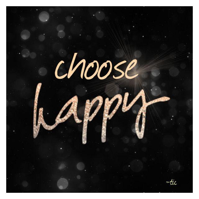 """Choose Happy"" by christianaatikasari on Polyvore featuring art"