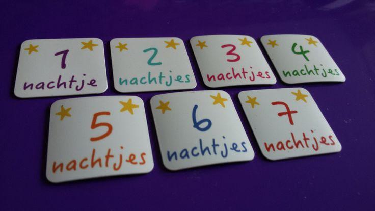 Aftellen tot... Set van 7 magneetjes om af te tellen naar een feestdag of verjaardag. Maak zo je eigen aftelkalender! www.olifantastisch.nl