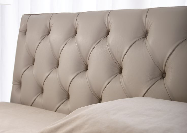 Tribeca leather bed by Berto Studio