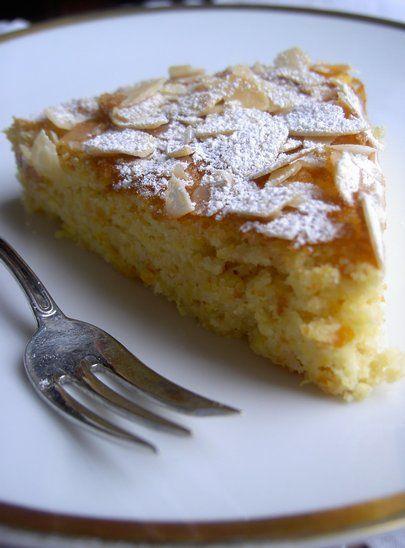torta spagnola all'arancia e mandorle