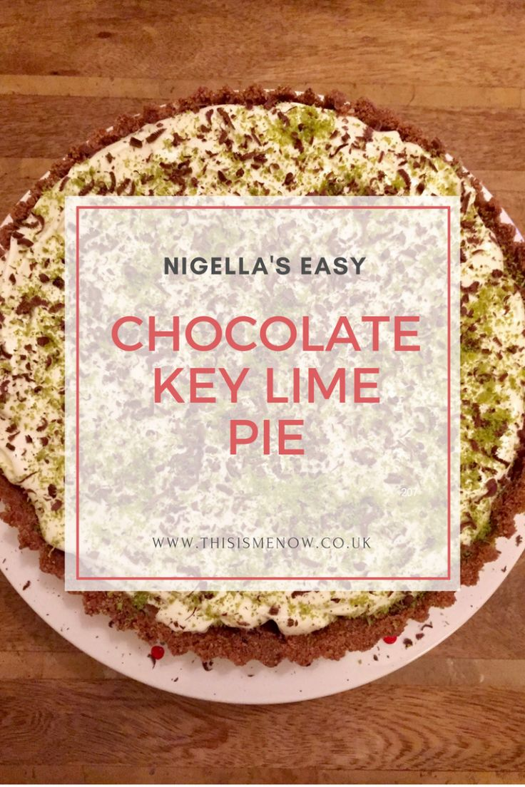 Chocolate Key Lime Pie by Nigella Lawson